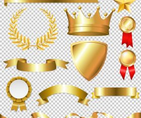 Crown and laurel and symbol design vector