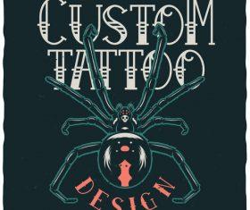 Custom tattoo illustration vector
