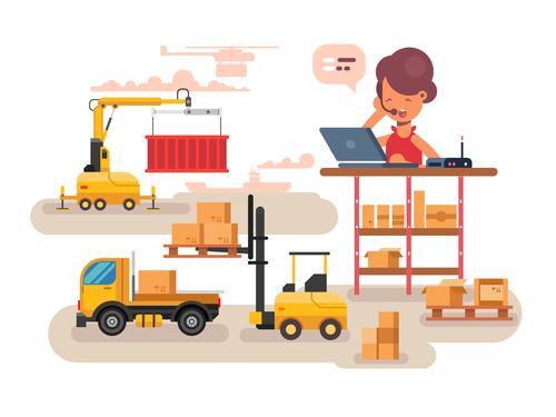 Customer service cartoon illustration vector