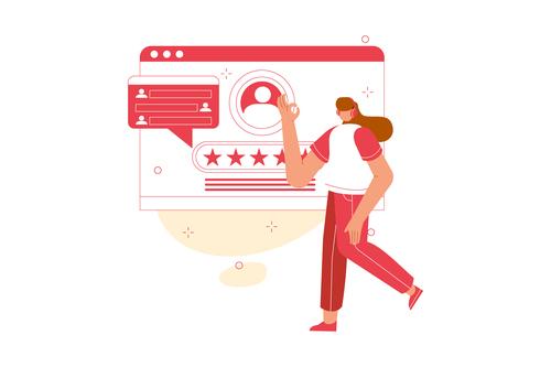 Customer service support vector illustration