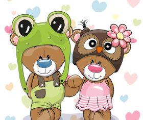 Cute partner cartoon illustration vector