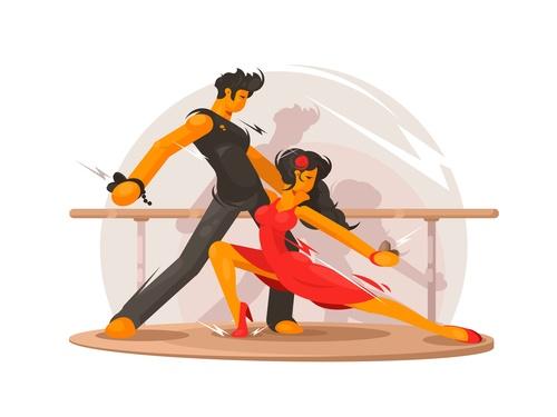 Dancing school vector