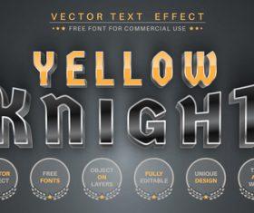 Dark metall editable text style effect vector
