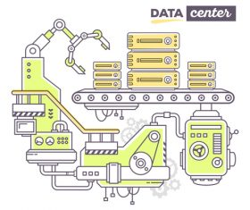 Data center business concept vector