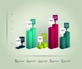 Data comparison infographic vector
