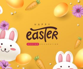 Decoration egg easter vector
