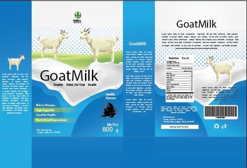 Design goat milk packaging vector