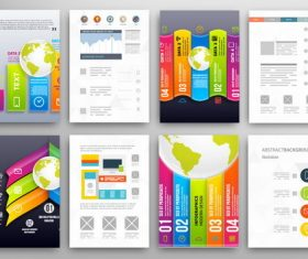 Design infographics double-sided template vector