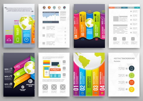 Design infographics double sided template vector