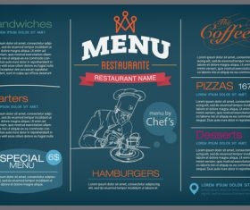 Design restaurant menu cover vector