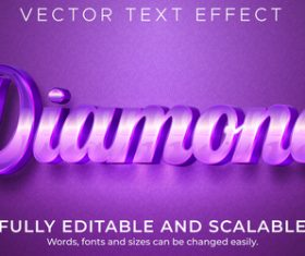 Diamond vector text effect