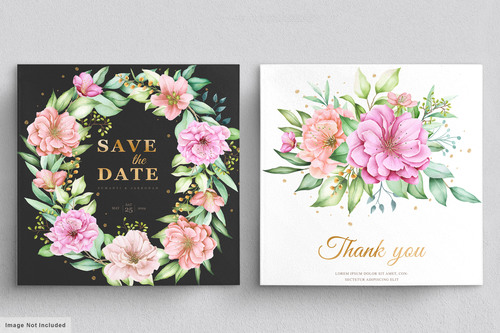 Different color background wedding invitation card vector