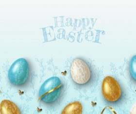 Different color eggs easter vector
