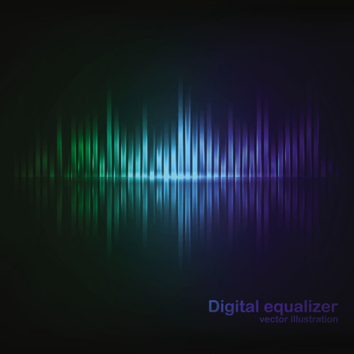 Digital equalizer abstract background vector