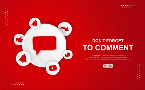 Do nt forget To comment button vector