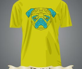 Dog pattern T-Shirts prints design vector