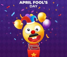 Doll april fools day cartoon vector