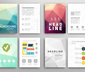 Double-sided brochure design vector