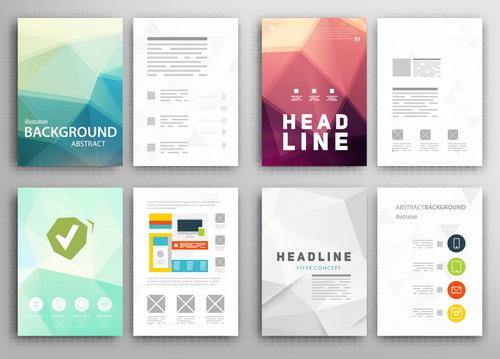 Double sided brochure design vector
