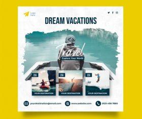 Dream vacations travel vector