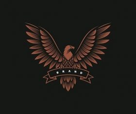Eagle emblem logo design vector