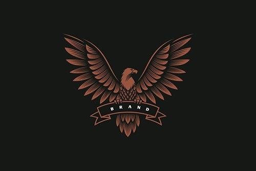 Eagle emblem logo design vector