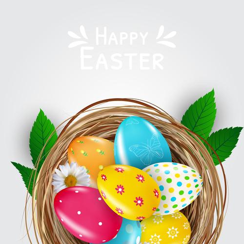 Easter element egg vector