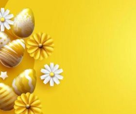 Easter yellow background illustration vector