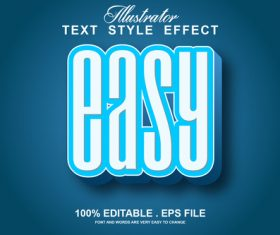 Easy text style effect vector