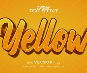 Editable yellow text effect