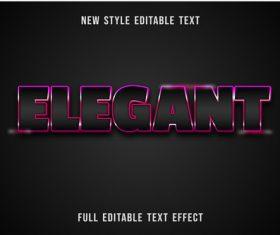 Elegant editable text effect vector