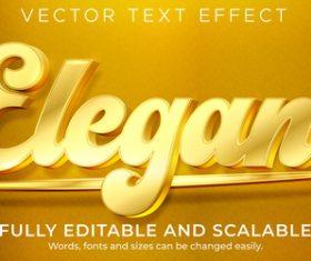 Elegant vector text effect