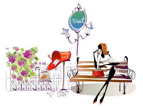 Elegant woman illustration vector