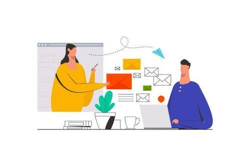 Email marketing illustration vector