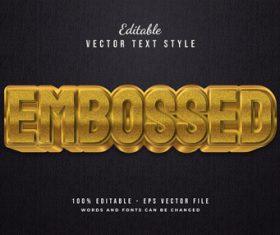 Embossed vector text style
