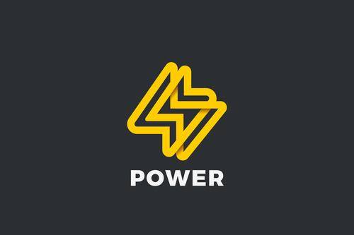 Energy battery power speed logo vector