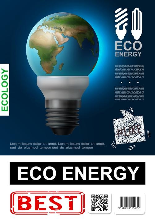 Energy realistic 3d illustration vector