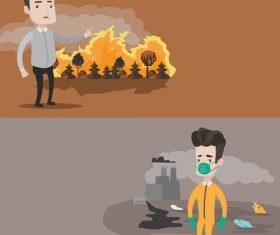 Environmental pollution vector
