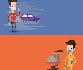 Exhaust pollution vector