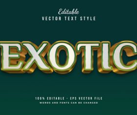Exotic text style effect vector
