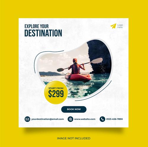 Explore your destination travel vector