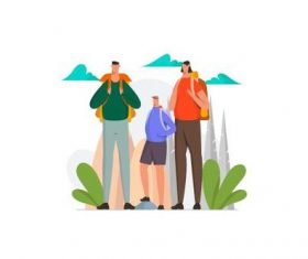 Family tip illustration vector