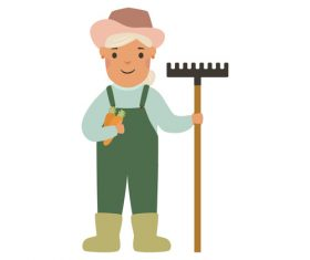 Farmer profession character vector