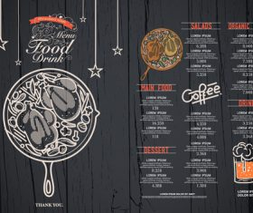 Featured cafe menu card vector