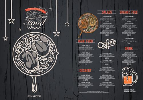 Featured cafe menu card vector
