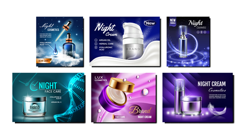 Featured cosmetic ads vector