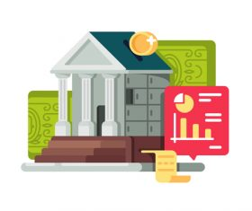 Financial management concept cartoon illustration vector