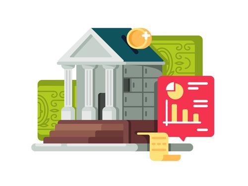 Financial management concept cartoon illustration vector