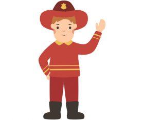Fireman profession character vector