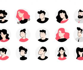 Flat design avatar icons vector